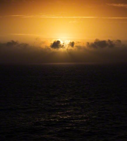 United Kingdom, English channel at sunrise