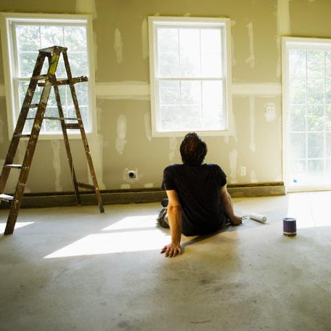 Homeowner Renovating House